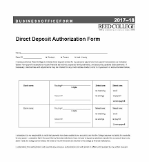 Automatic Withdrawal Form Template 47 Direct Deposit Authorization Form Templates Template