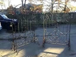 garden wall trellis uk iron metal design style outdoor pair of antique footed wrought trellises 7 garden wall trellis