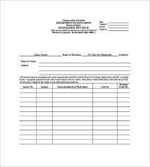 standard invoice templates australian standard invoice templates standard invoice template