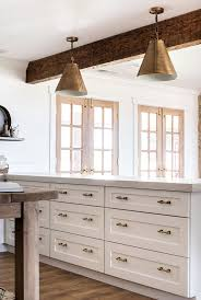 white kitchen cabinet hardware. Classic Brass Drawer Pulls In White Farmhouse Kitchen | Boxwoodavenue.com Cabinet Hardware
