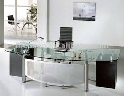 office glass desk. FKS-HD-ED024 Modern Glass Top Office Desk