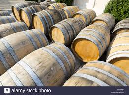stack wine barrels. Wine Barrels Stacked In Cellar - Stock Image Stack