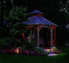 image of outdoor gazebo lighting solar