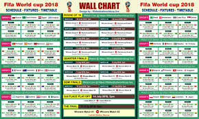 World Cup Planner Chart 2018 Download Fifa World Cup 2018 Wallchart Calender Keep Track