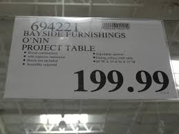 ... Bayside Furnishings Onin Project Table Costco