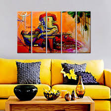 image is loading wall mantra 5 panel canvas lord ganesha wall  on ganesh canvas wall art with wall mantra 5 panel canvas lord ganesha wall art home painting wm