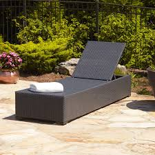 chaise lounge chair outdoor. VIEW IN GALLERY Black Resin Wicker Patio Lounge Chairs Chaise Chair Outdoor