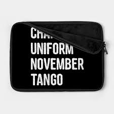 This helps in improving english pronunciation and feeling more confident speaking in english, whether. Naughty Charlie Uniform November Tango Cunt Phonetic Alphabet Military Call Signs Sarcastic Mom Laptop Case Teepublic