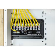 10 way idc telephone module rj31x tm1110 legrand telephone distribution module close up