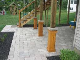 paver patio with deck. Brilliant Deck Impressive Paver Patio With Deck Throughout E
