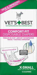 Vet\u0027s Best Comfort-Fit Disposable Female Dog Diapers, 12 count
