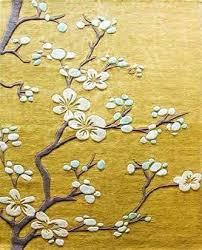yellow fl rug global views rug cherry blossom cherry blossom transitional hand tufted fl rug cherry