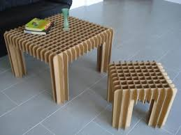 diy small table popular designs stunning from cardboard furniture 728 546