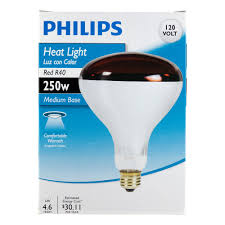 Near Infrared Light Bulbs Lowes Philips Heat Lamp R40 Flood Light Bulb 250 Watt Medium Screw Base