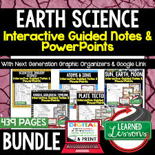 Earth Science Guided Notes And Powerpoints Ngss Next Generation
