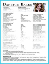 Professional Theatre Resumes Professional Acting Resume Template Ideas
