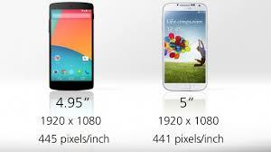 s4 screen size mobile news nexus 5 vs galaxy s4