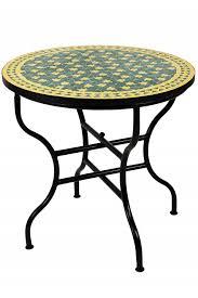 moroccan mosaic table estrella green yellow ø 80cm