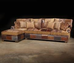 Traditional Sectional Sofas Living Room Furniture Paul Robert Choices Patched Western Sectional Sofa In Traditional