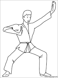 Small Picture Karate coloring page Coloring pages