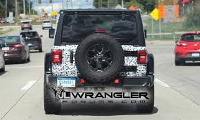 2018 jeep black. modren jeep black 2018 jeep wrangler rubicon spied with exposed rear hardtop in jeep black m