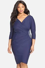 Alex Evenings Plus Size Chart Alex Evenings Embellished Side Ruched Jersey Cocktail Sheath Dress Plus Size Nordstrom Rack
