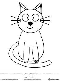 Cat Coloring Page Cat Coloring Page And Word Tracing Fat Cat