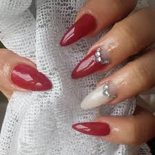 Nail Designs : Red Black And White Nail Art Dotted Style of Red ...