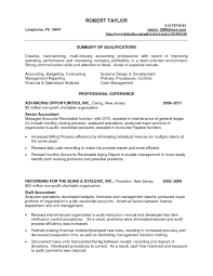 Summary For Accounting Resume It Resume Cover Letter Sample