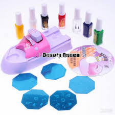 Nail Art DIY Printing Machine Stamp Kit Stamping Printer Set ...