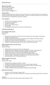 Sample Plumbing Cover Letter Industrial Sales Resume Plumbing Apprentice Plumber Sample Plumbers