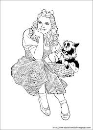 Small Picture Wizard Of Oz Coloring Pages free For Kids