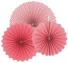 hanging paper fans pinwheel backdrop wedding birthday party banner wall home decorations craft diy 3 pcs set light pink