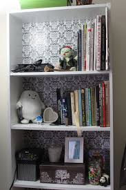 book case cover using contact paper drab to fab in minutes
