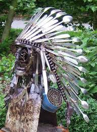 garden ornaments made from junk. from tableware and scrap metals to garden art ornaments made junk