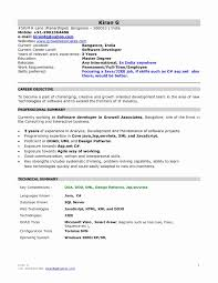 Sample Resume Java Developer 1 Year Experience New 1 Year Experience