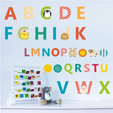 alphabet letters wall decals school numbers abc room decor stickers new y 1 of 10only 3 available