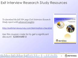 Exit Interview Checklist Exit Interview Research Study Abstract Unlocking Why Employees Quit