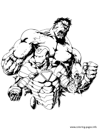 Small Picture incredible hulk and iron man Coloring pages Printable