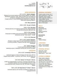 Creative Job Resume Best Of Cool Resumes Interior Design Google Search MySTYLE Pinterest