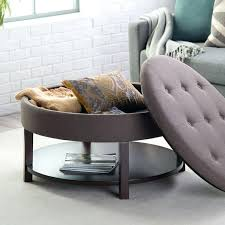 round storage ottoman coffee table coffee table storage ottoman coffee table canada round tufted furniture in