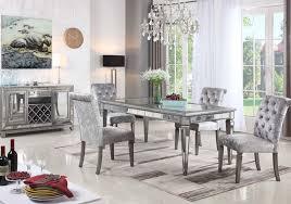 Monroe Silver Mirror 5 PC Dining Room Badcock Home Furniture