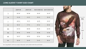 The Mountain Shirt Size Chart Mountain T Shirt Size Chart Rldm