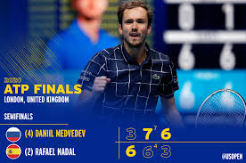 US Open Tennis Championships - Daniil Medvedev defeats Rafael Nadal to book  his spot in the singles final of the Nitto ATP Finals!