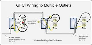 wiring multiple gfci outlets multiple gfci outlets wired