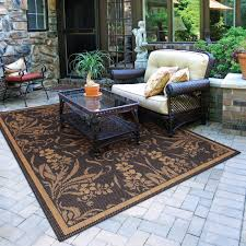 chocolate fl outdoor rug