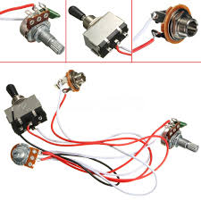 electric guitar 3 way toggle switch wiring harness kit 1 volume 1 pre wired guitar harness at Guitar Wiring Harness