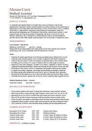 Medical Assistant Resume Samples New Medical Assistant Resume Samples Template Examples CV Cover