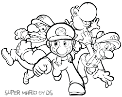 Coloring Pages Mario Dazzling Super Colouring Pages Free Mario
