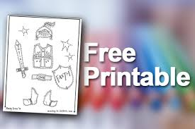 Free Printable Package Armor Of God Coloring Pages